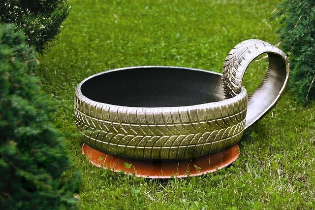 neumáticos para el jardín